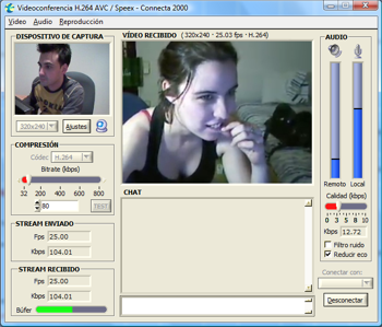 Videoconferencia y Chat con Webcam